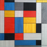 Composition No II after Piet Mondrian 40 x 40 cm