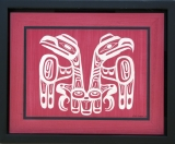 Haida Flag Raven and Eagle 33w x 25h cm