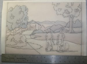 Figure 2 – Drawing on transparent paper