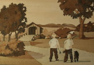 Figure 11 - Boys with fishing rods and dog