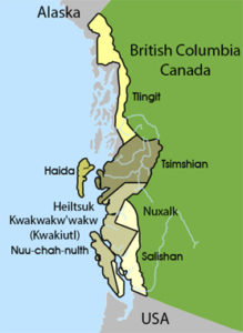 Map of Pacific Northwest Coast