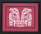 Haida Flag Raven and Eagle 33w x 25h cm