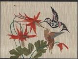 Hummingbirds 33w x 25h cm