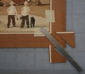 Figure 14 - Miter corner of frame