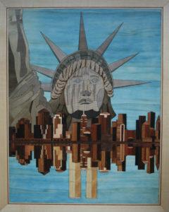 New York 7 framed 16 x 20